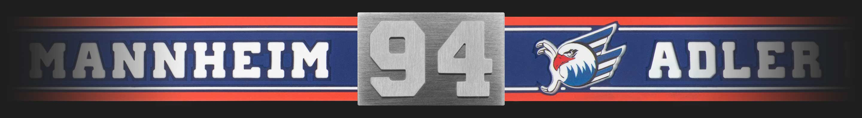 Adler Mannheim Armband Nummer 94 flach liegend