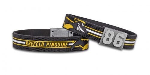 Krefeld Pinguine Armband: Puck Haptik samt KEV-Logo
