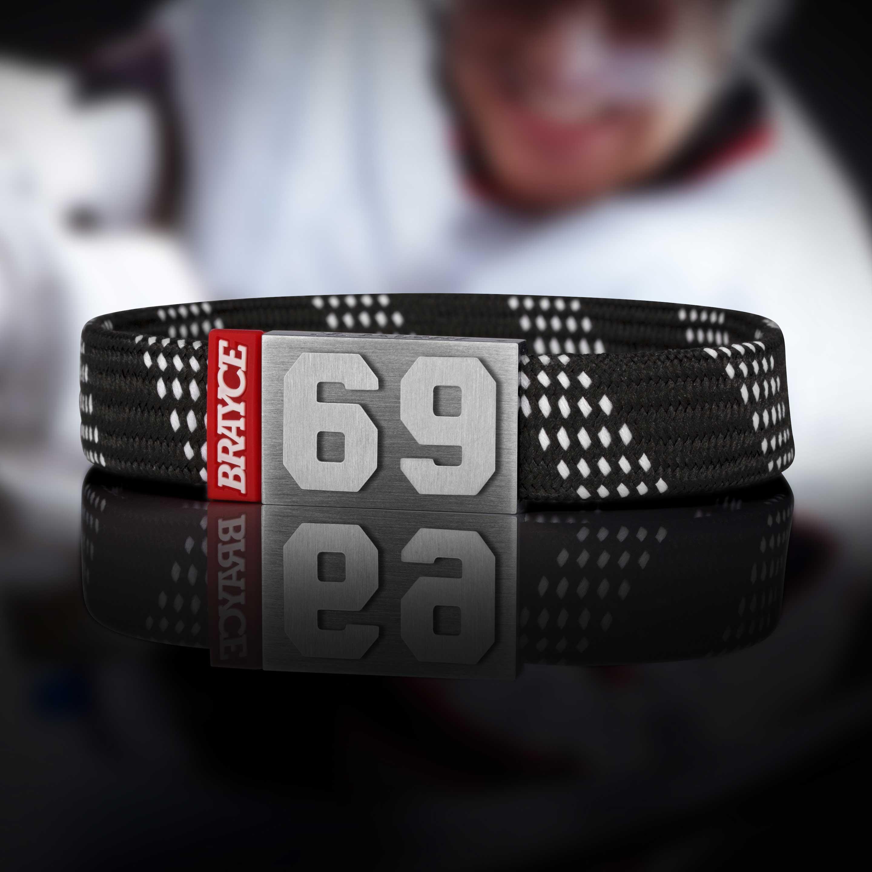Eishockey Armband Schnürsenkel schwarz