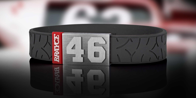 Motobike Armband Nummer 46
