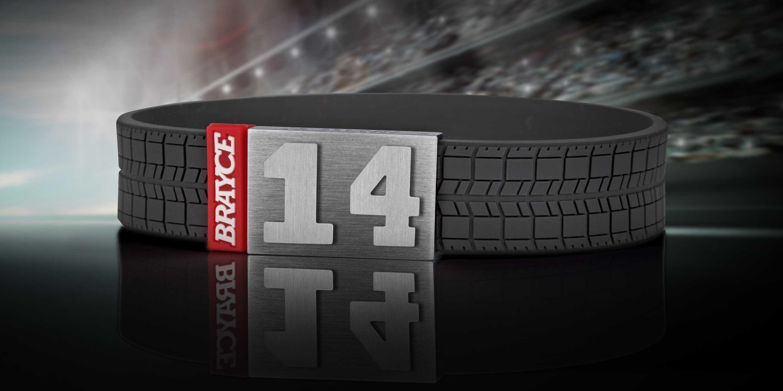 Tyre Tread Armband Nummer 14