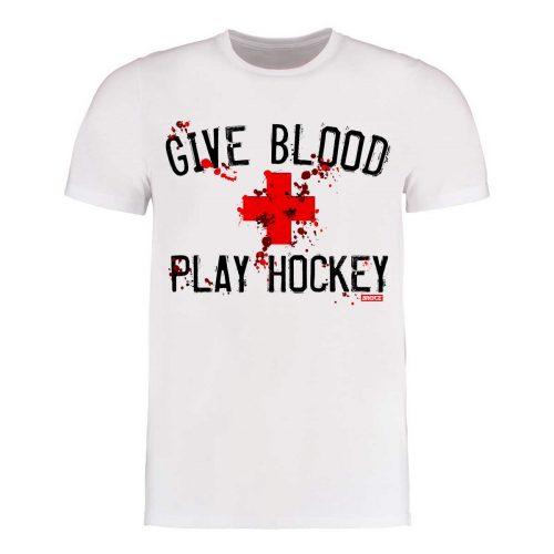 "Eishockey T-Shirt ""Give Blood Play Hockey"""