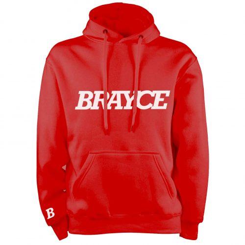 BRAYCE® Logo Hoodie rot