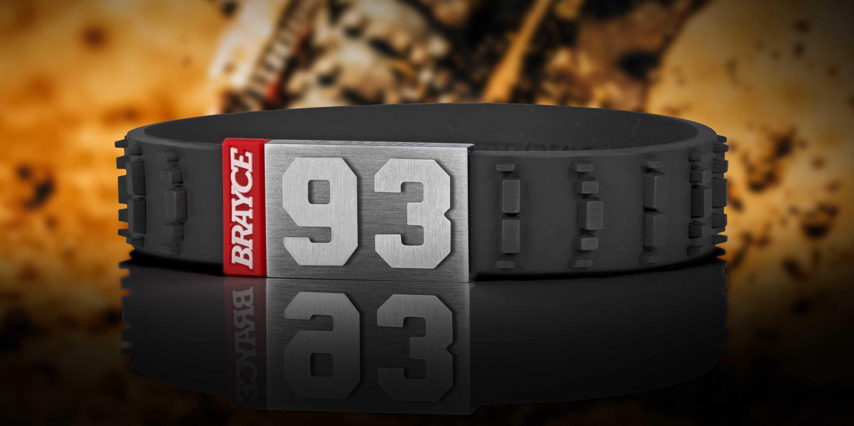 Motocross Armband Nummer 93