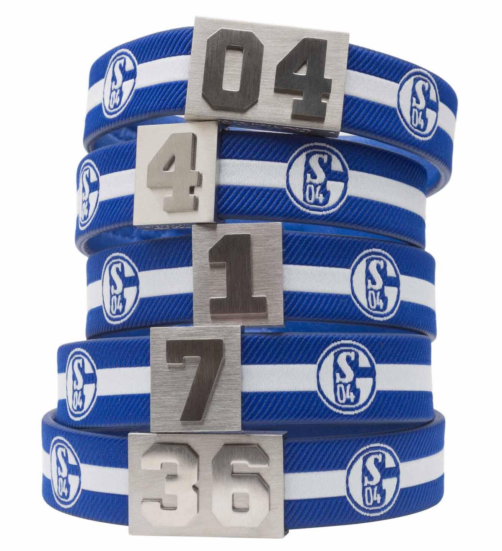 Schalke 04 Armband verschiedene Trikotnummern