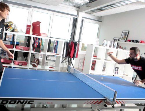 Unsere neue Tischtennisplatte – Wer schmettert am härtesten?